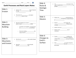 Earth Processes and Rock Layers Notes