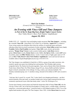 PCI presents An Evening with Vince Gill and Time Jumpers Aug. 30