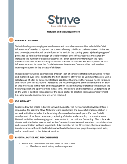 Network and Knowledge Intern PURPOSE STATEMENT Strive is