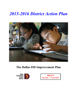 Key Actions - Dallas Independent School District