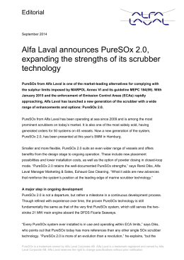 Alfa Laval expands the strengths of its scrubber technology with