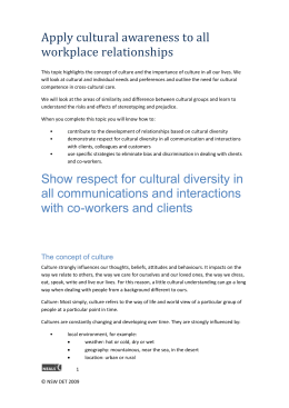 Here are the Readings for Apply cultural awareness to all workplace