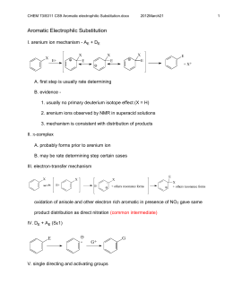 Aromatic Nucleophilic Substitution