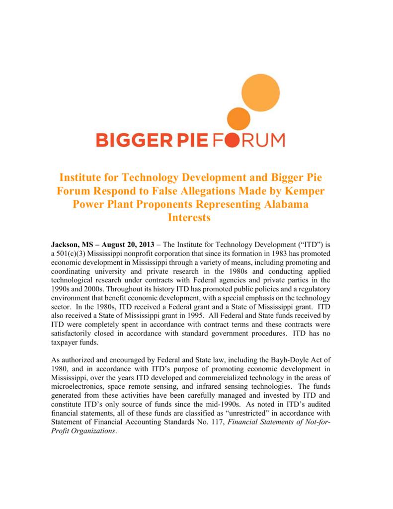 Bigger Pie Forum - Mississippi Press Association