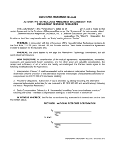 NRC - Dispersant Amendment Release - December 2013