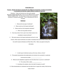 Online Biome Lab Purpose: Student will observe and describe how