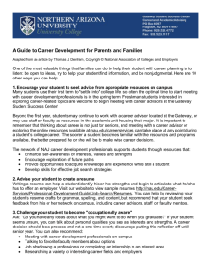 A Guide to Career Development for Parents and Families