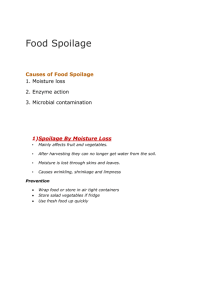 Causes of Food Spoilage - manorhousehomeeconomics