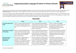Primary Languages Quality Mark overview