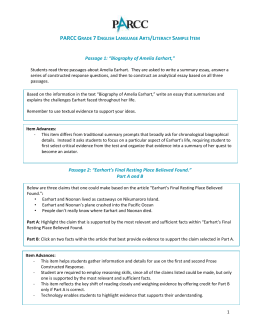 PARCC Grade 7 English Language Arts/Literacy Sample Item