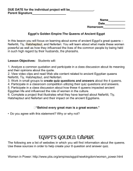 Egypt`s Golden Empire Queens SE - MV6