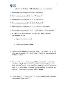 Homework #1: Scientific Notation and Exponents (Chapter - Bio-Link