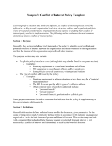 Conflict of Interest Policy Template