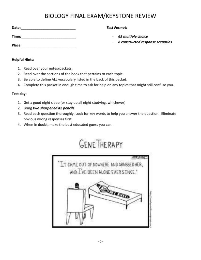 Keystone Exam and Final Exam Review Packet Key