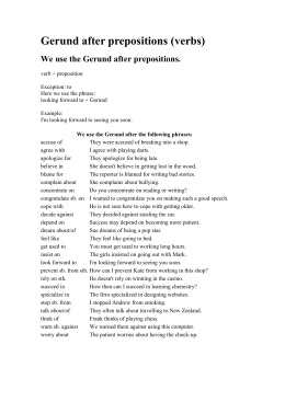 Gerund after prepositions (verbs)