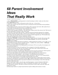 68 Parent Involvement Ideas That Really Work