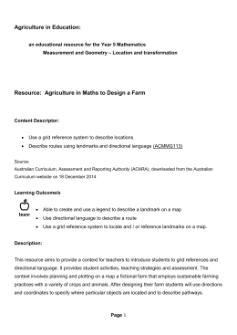 Agriculture in Maths to Design a Farm