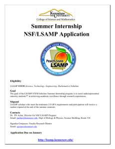 NSF- LSAMP Summer Research Flyer & Application