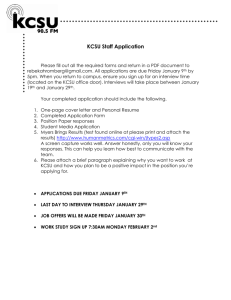 Program Director Application