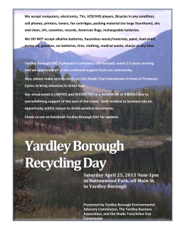 Yardley Borough Recycling Day