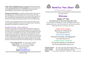 Benefice Pew Sheet – Sun 13th July