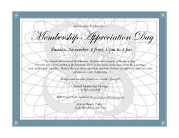 More info – Membership Appreciation Day 11/4/12