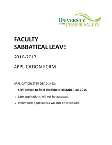 2016 - 2017 Faculty Sabbatical Leave Application ( Fillable )