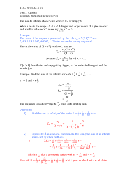 Notes 11SL Unit 1 Algebra Lesson 6