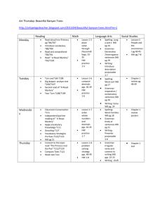 Spanish 111 Hybrid M  Hibit Summer, 2013 Class Schedule