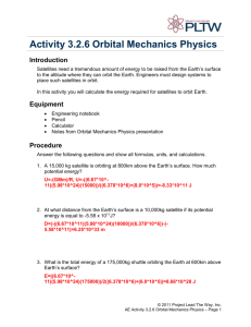 A 3.2.6 Orbital Mechanics Physics