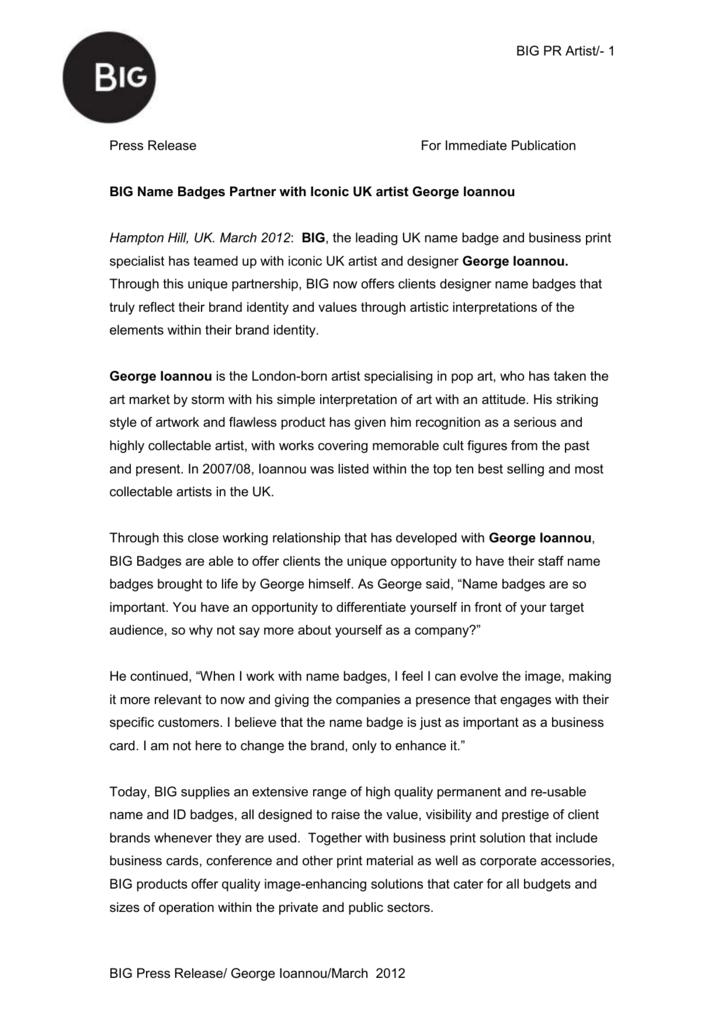 Press Release - Secure Admin for big co uk
