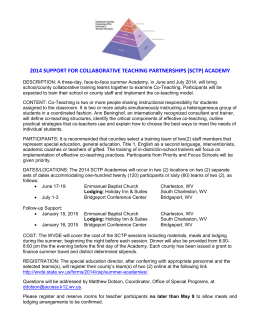 2014 support for collaborative teaching partnerships (sctp) academy