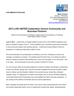 Robert Francis - United Way of Coastal Fairfield County