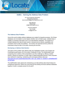 AddEx- Solving the Address Data Problem