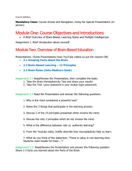 Revised Course Syllabus for Learning Styles and Multiple