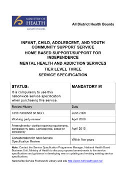 Infant, Child, Adolescent and Youth Community Support Service