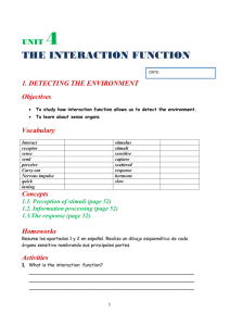 Activity book UNIT 4 the interaction function