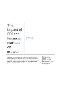 Results The impact of FDI and financial markets on growth
