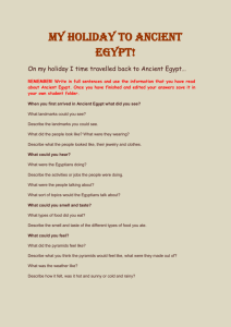 My Holiday to Ancient Egypt