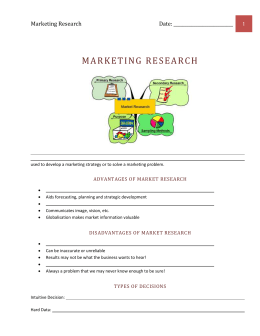 Advantages of Market Research