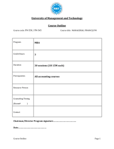 Course Outline - UMT Admin Panel