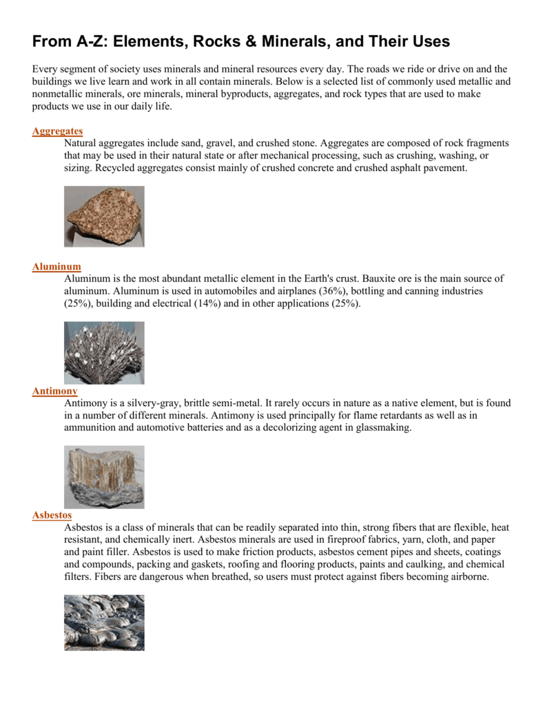 Why nonmetallic materials and crushed stone are valued 9