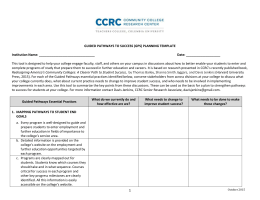 Planning Template - Community College Research Center