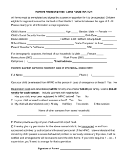 HFKC 2015 REGISTRATION FORM