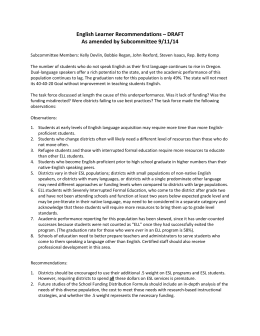 English Learner Recommendations - Amended 9-11-14