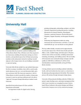 Project Fact Sheet - University of Massachusetts Boston