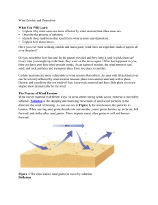 wind erosion and depostion text