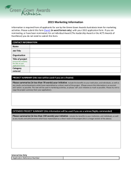 2015 Marketing Form