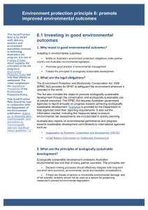 1. Why invest in good environmental outcomes?