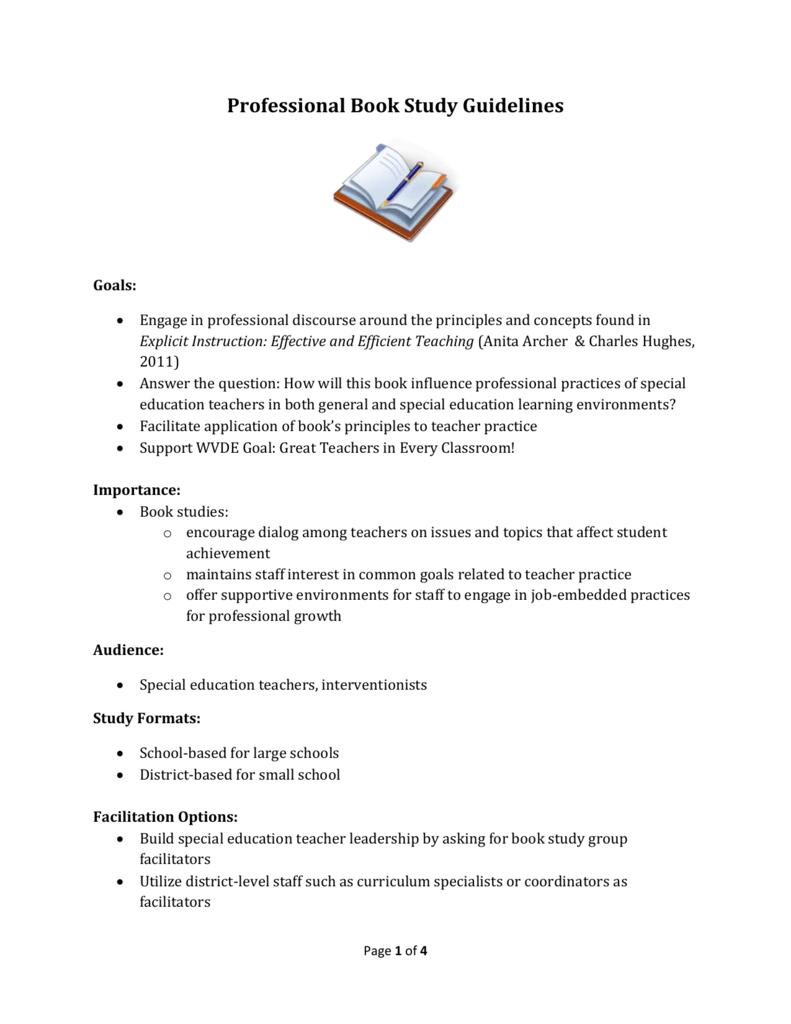 professional book study word doc rh studylib net  Study for Test